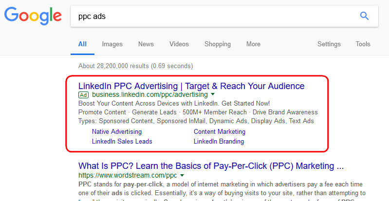 Ad for PPC Advertising