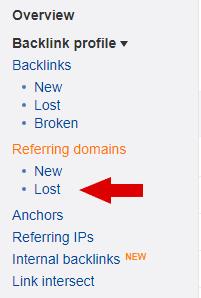 Ahrefs Lost Domain