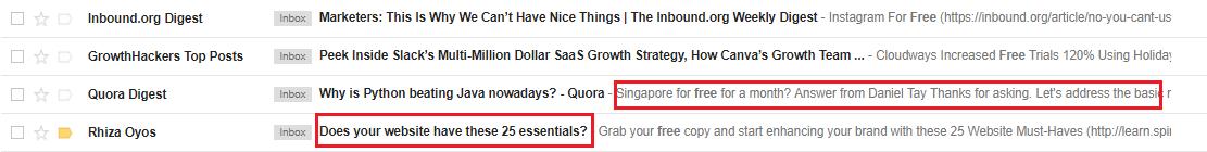 Email Data Screenshot1