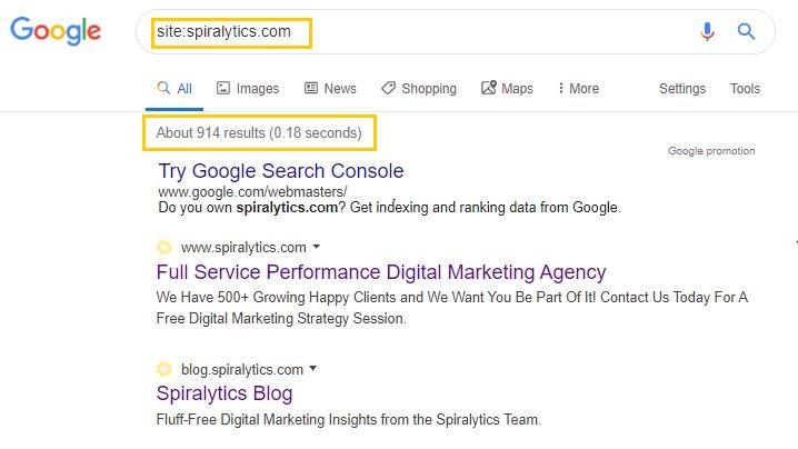 Technical SEO-Google Index