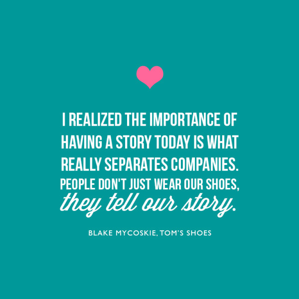 Quote, CEO Tom's Shoes