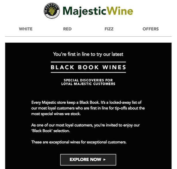 majestic wine customer loyalty email
