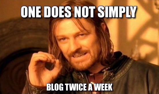 One does not simply blog meme